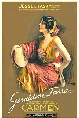 Постер фильма Кармен (1915)