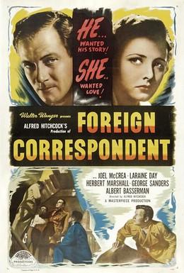 Постер фильма Иностранный корреспондент (1940)