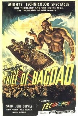 Постер фильма Багдадский вор (1940)