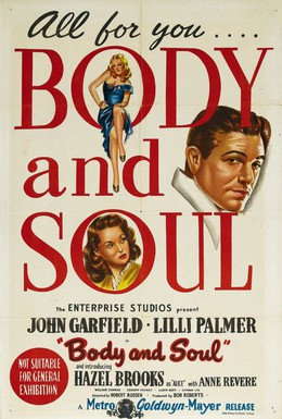 Постер фильма Тело и душа (1947)