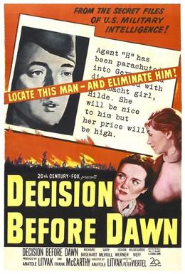 Постер фильма Решение перед рассветом (1951)