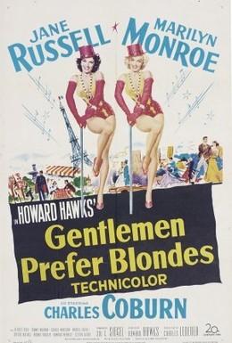 Постер фильма Джентльмены предпочитают блондинок (1953)
