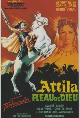 Постер фильма Аттила завоеватель (1954)