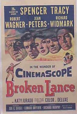 Постер фильма Сломанное копье (1954)