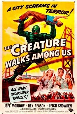 Постер фильма Чудовище бродит среди нас (1956)