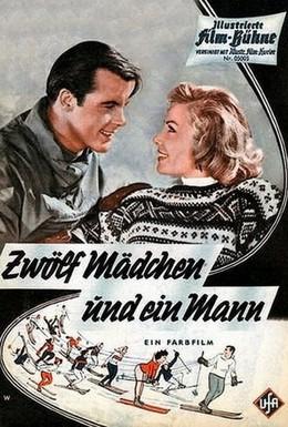 Постер фильма Двенадцать девушек и один мужчина (1959)