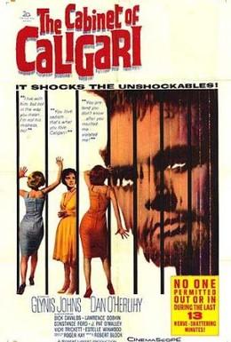 Постер фильма Кабинет доктора Калигари (1962)