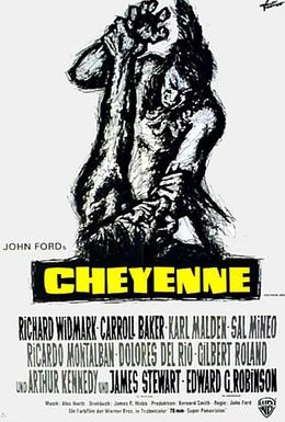 Постер фильма Осень Шайеннов (1964)