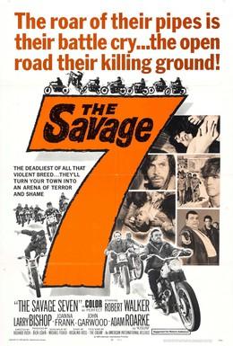 Постер фильма Дикая семерка (1968)