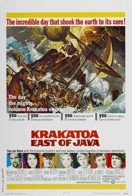 Постер фильма Гибель на вулкане Кракатау (1968)
