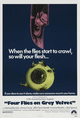 Постер фильма Четыре мухи на сером бархате (1971)