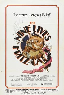 Постер фильма Девять жизней кота Фрица (1974)