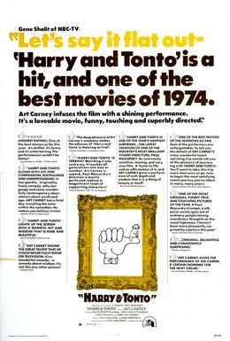 Постер фильма Гарри и Тонто (1974)