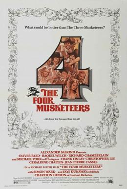 Постер фильма Четыре мушкетера (1974)