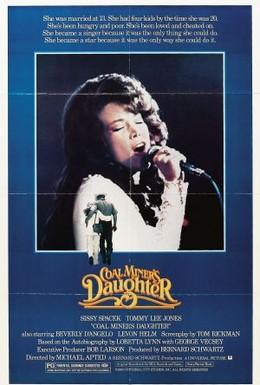 Постер фильма Дочь шахтера (1980)