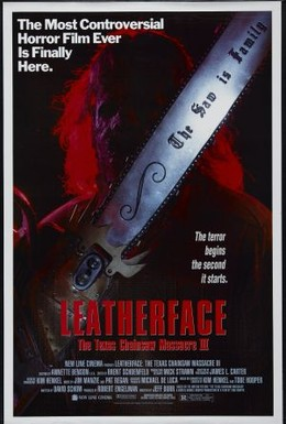 Постер фильма Техасская резня бензопилой 3: Кожаное лицо (1990)