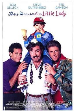 Постер фильма Трое мужчин и маленькая леди (1990)