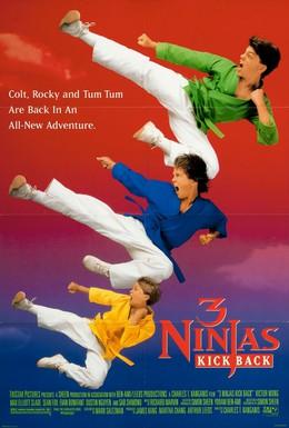 Постер фильма Три ниндзя наносят ответный удар (1994)