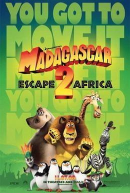 Постер фильма Мадагаскар 2 (2008)