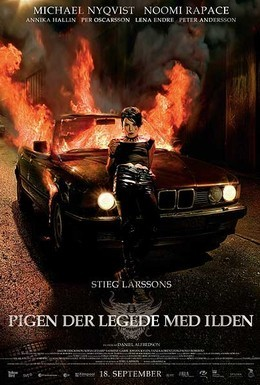 Постер фильма Девушка, которая играла с огнём (2009)