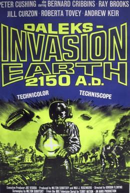 Постер фильма Вторжение Далеков на Землю (1966)