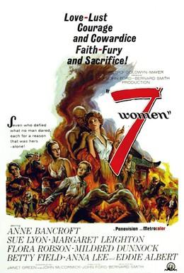 Постер фильма 7 женщин (1966)