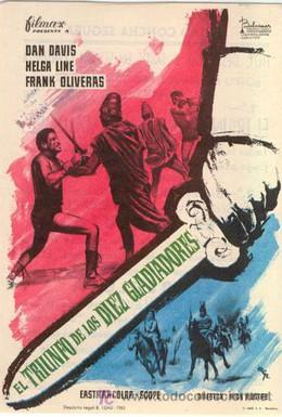 Постер фильма Триумф десяти гладиаторов (1964)