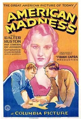 Постер фильма Американское безумие (1932)