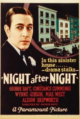 Постер фильма Ночь за ночью (1932)
