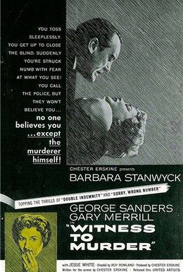 Постер фильма Свидетель убийства (1954)