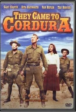 Постер фильма Они приехали в Кордура (1959)