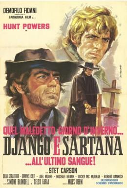 Постер фильма Один проклятый день в аду... Джанго встречает Сартану (1970)