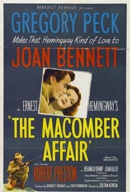Постер фильма Дело Макомбера (1947)