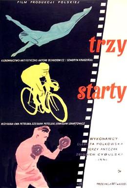 Постер фильма Три старта (1955)