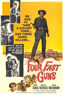 Постер фильма Четыре быстрых пушки (1960)