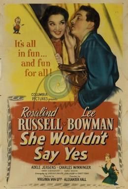 Постер фильма Она не сказала да (1945)