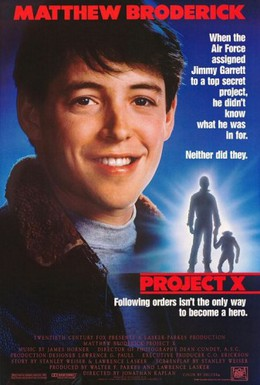 Постер фильма Проект Икс (1987)