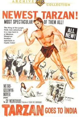Постер фильма Тарзан едет в Индию (1962)