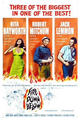 Постер фильма Огонь из преисподней (1957)