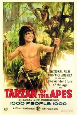 Постер фильма Тарзан, приемыш обезьян (1918)