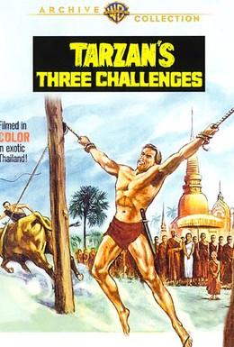 Постер фильма Три испытания Тарзана (1963)