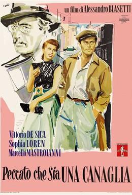 Постер фильма Жаль, что ты каналья (1955)