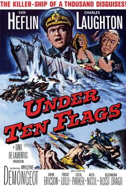 Постер фильма Под десятью флагами (1960)