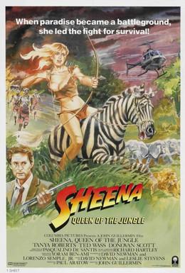 Постер фильма Шина – королева джунглей (1984)