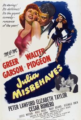 Постер фильма Джулия плохо себя ведет (1948)