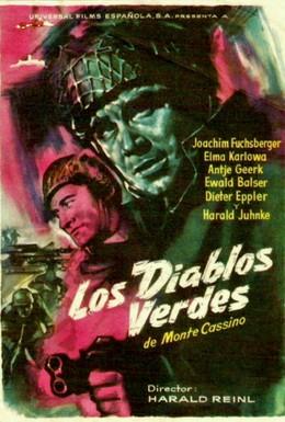 Постер фильма Зелёные дьяволы Монте-Кассино (1958)