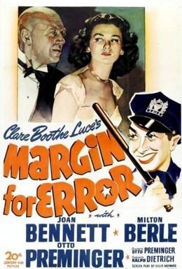 Постер фильма Допуск на ошибку (1943)