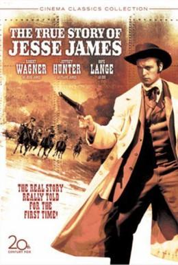 Постер фильма Подлинная история Джесси Джеймса (1957)