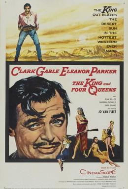 Постер фильма Король и четыре королевы (1956)