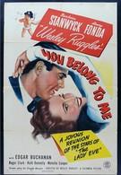 Вы принадлежите мне (1941)